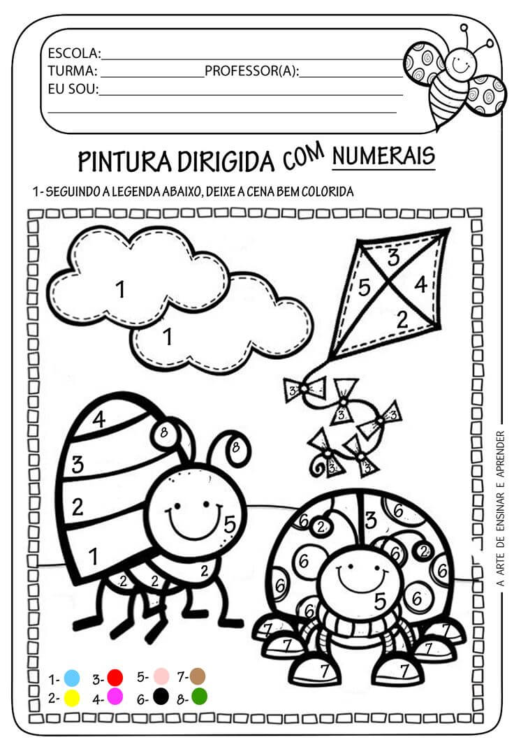 Imprima Atividades De Artes Para Educacao Infantil Mensagens E