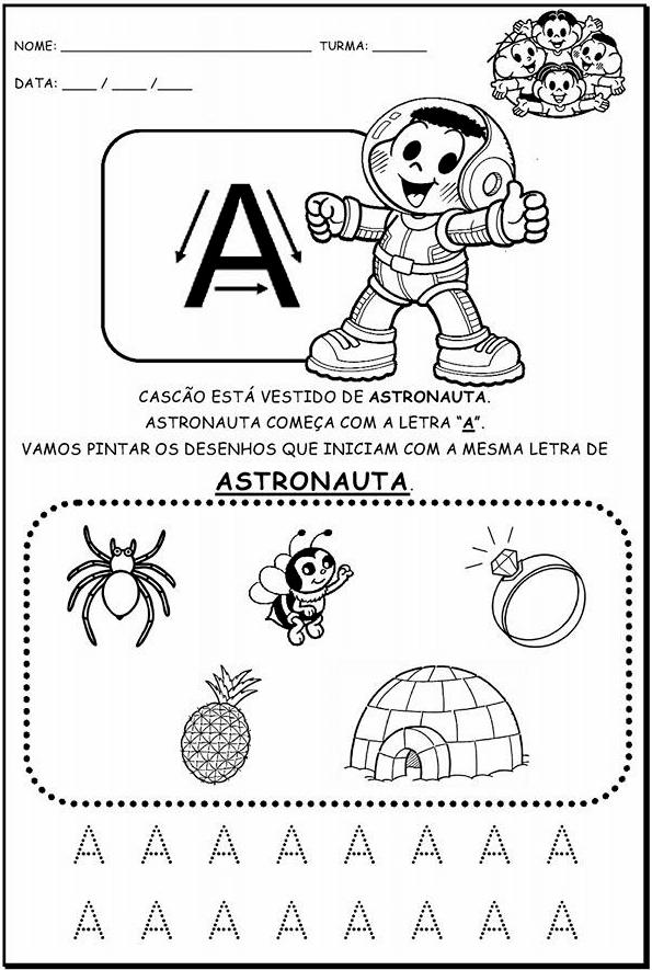 Suficiente Atividades Para Educação Infantil Com Alfabeto Para Imprimir  AG69