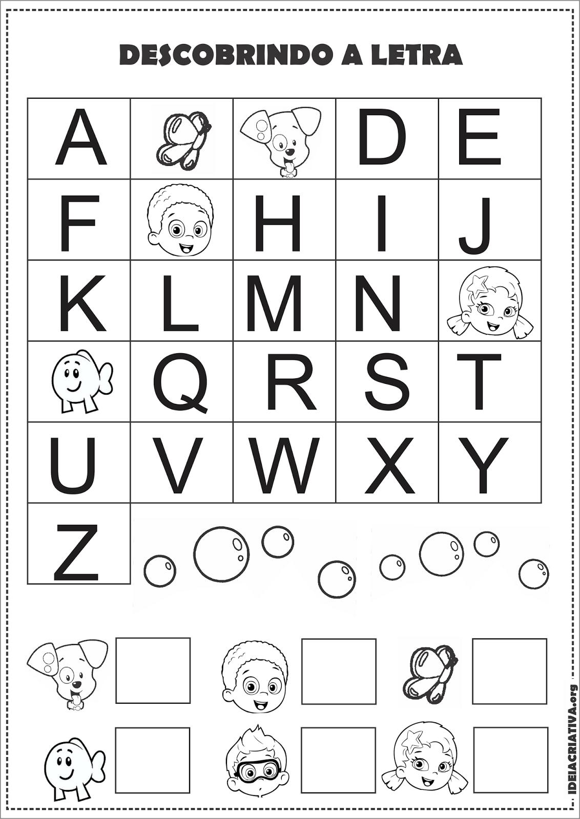 Fabuloso Atividades Para Educação Infantil Com Alfabeto Para Imprimir  EH69