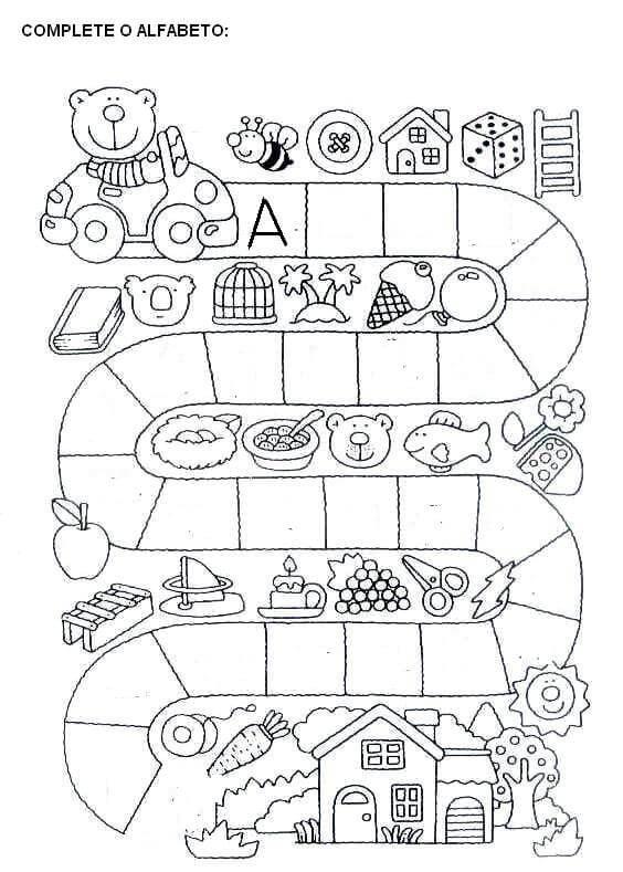 Populares Atividades Para Educação Infantil Com Alfabeto Para Imprimir  NQ08