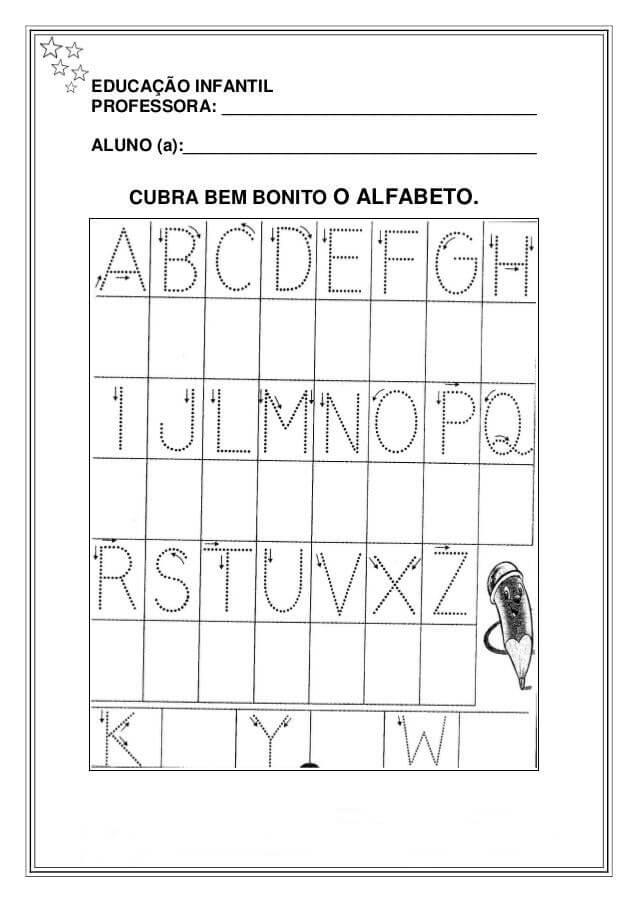 Suficiente Atividades Para Educação Infantil Com Alfabeto Para Imprimir  PK91