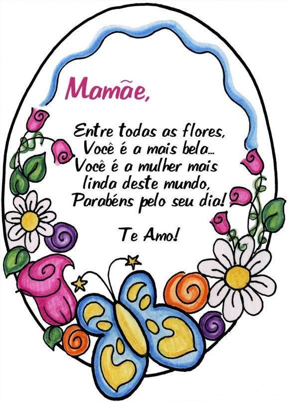 Ideias De Cartões Para Dia Das Mães Para Imprimir Mensagens E