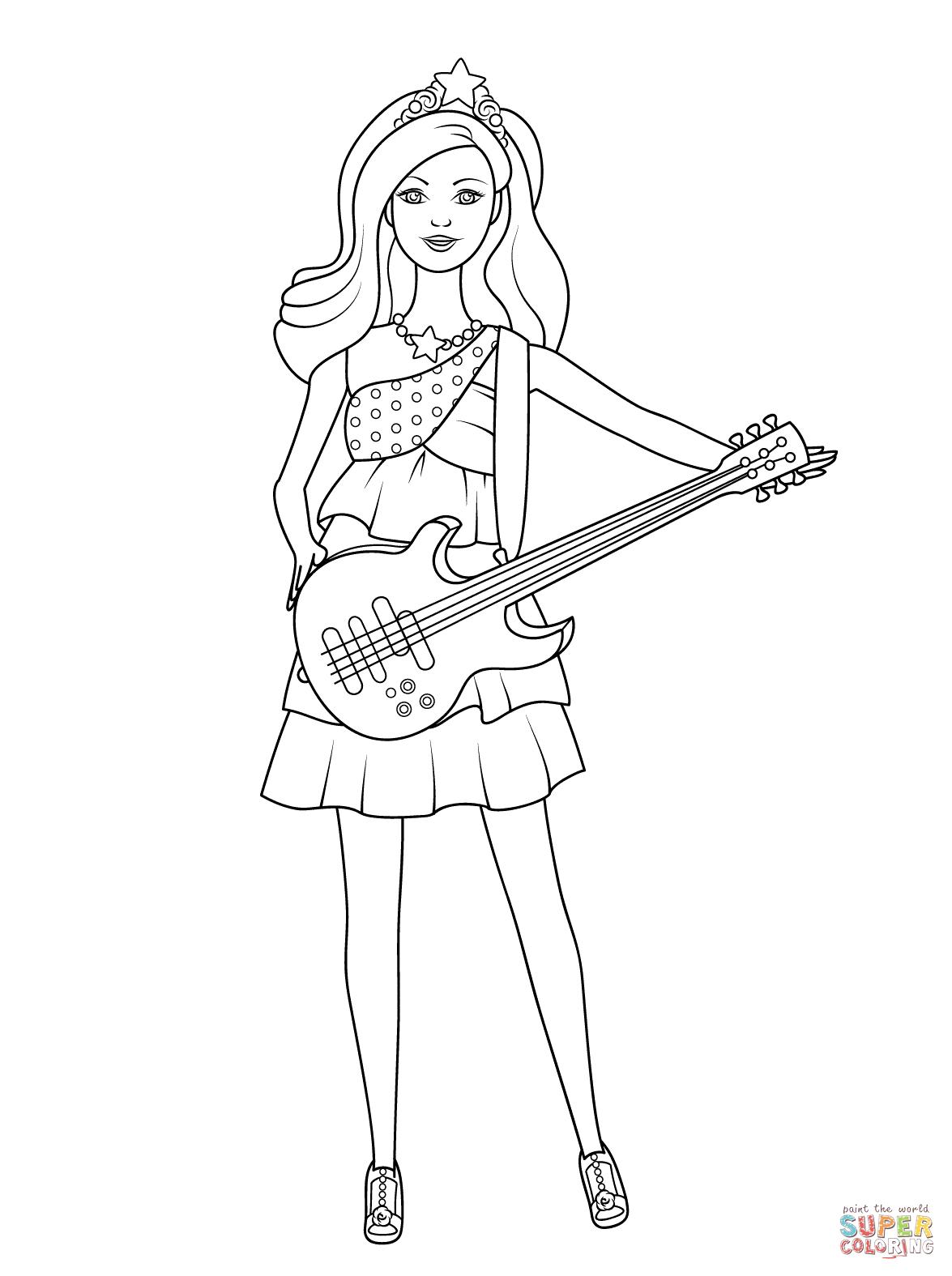 Desenhos Da Barbie Para Colorir E Imprimir Mensagens E