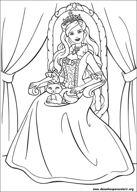 Preferência Desenhos da Barbie Para Colorir e Imprimir | Mensagens e Atividades PT33