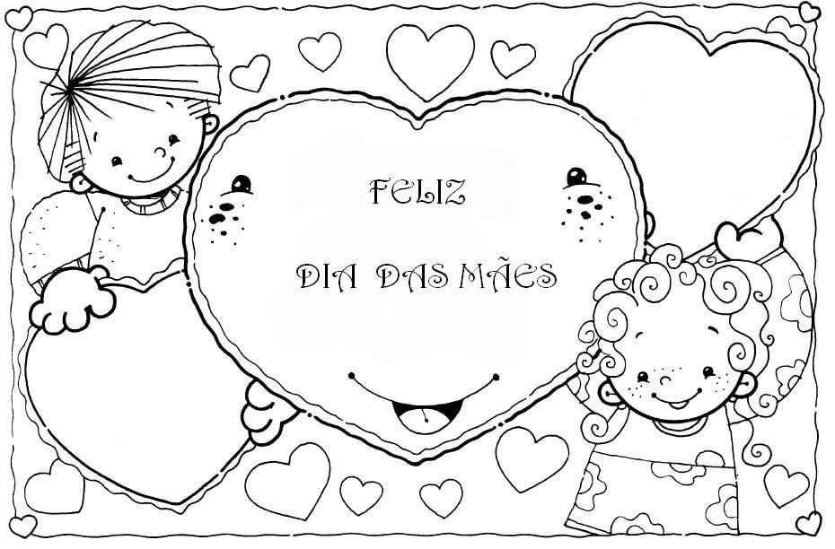 Atividades Infantis Desenhos Para Dia Das Maes Para Colorir E