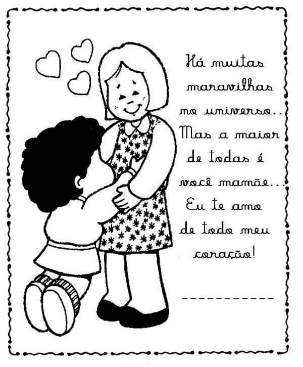 Atividades Infantis Desenhos Para Dia Das Mães Para Colorir E