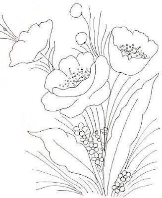 Moldes De Desenhos De Flores Para Imprimir Mensagens E