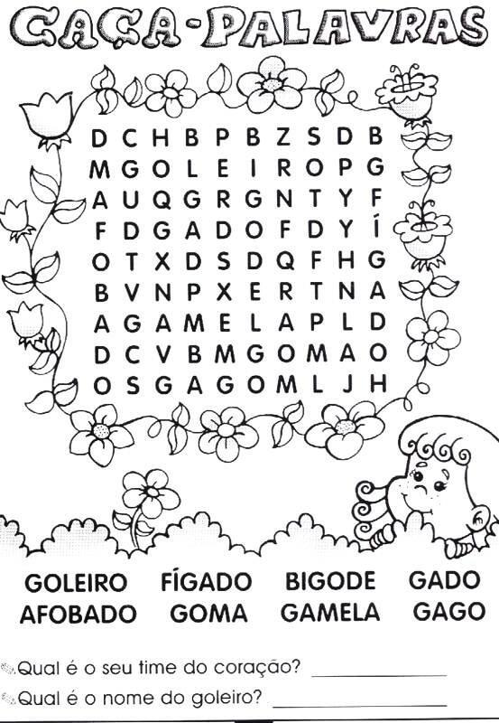 Caca Palavras Nivel Facil Para Imprimir Mensagens E Atividades
