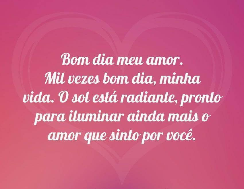 Bom Dia Romantico Para Celular: Mensagem De Bom Dia Para WhatsApp
