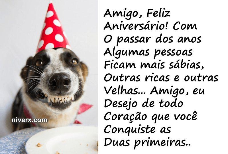 mensagem de aniversario Engraçadas cachorro
