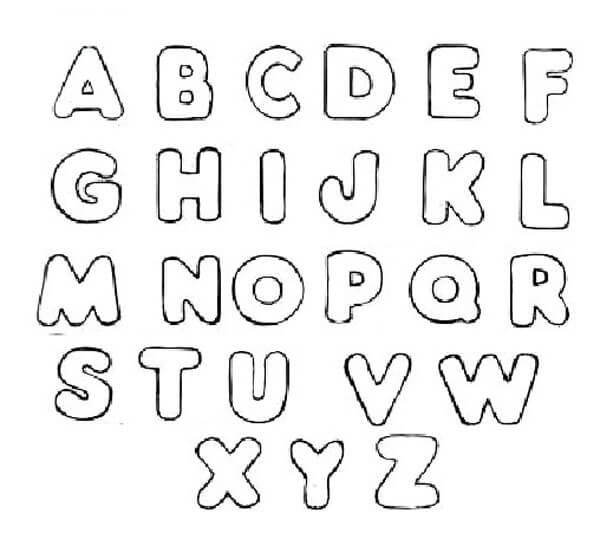 Moldes de letras em eva para imprimir e usar em mural - Formas de letras para decorar ...