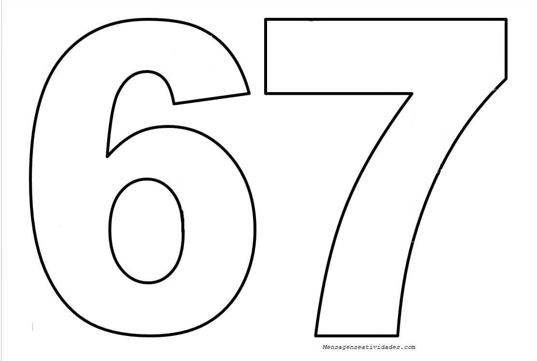 Moldes De Números Em Eva Para Imprimir Mensagens E Atividades