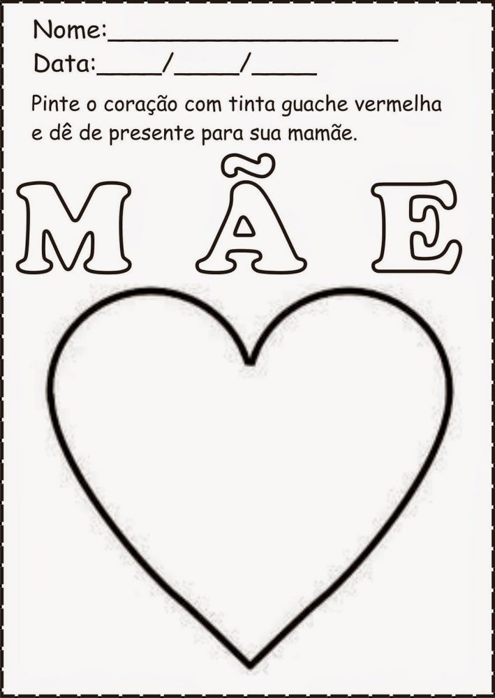 Atividades Para Dia Das Mães Educação Infantil Mensagens E Atividades