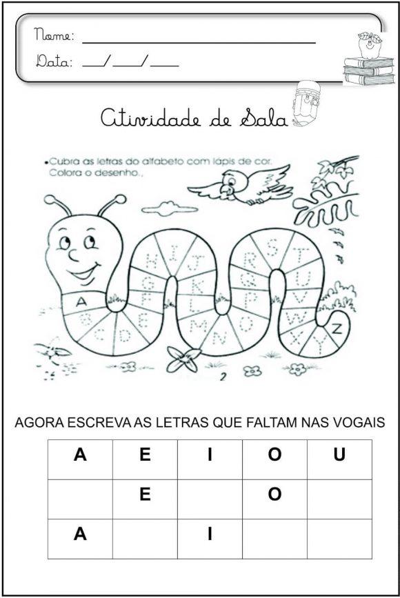 20 Atividades De Alfabetização Para Educação Infantil Para Imprimir