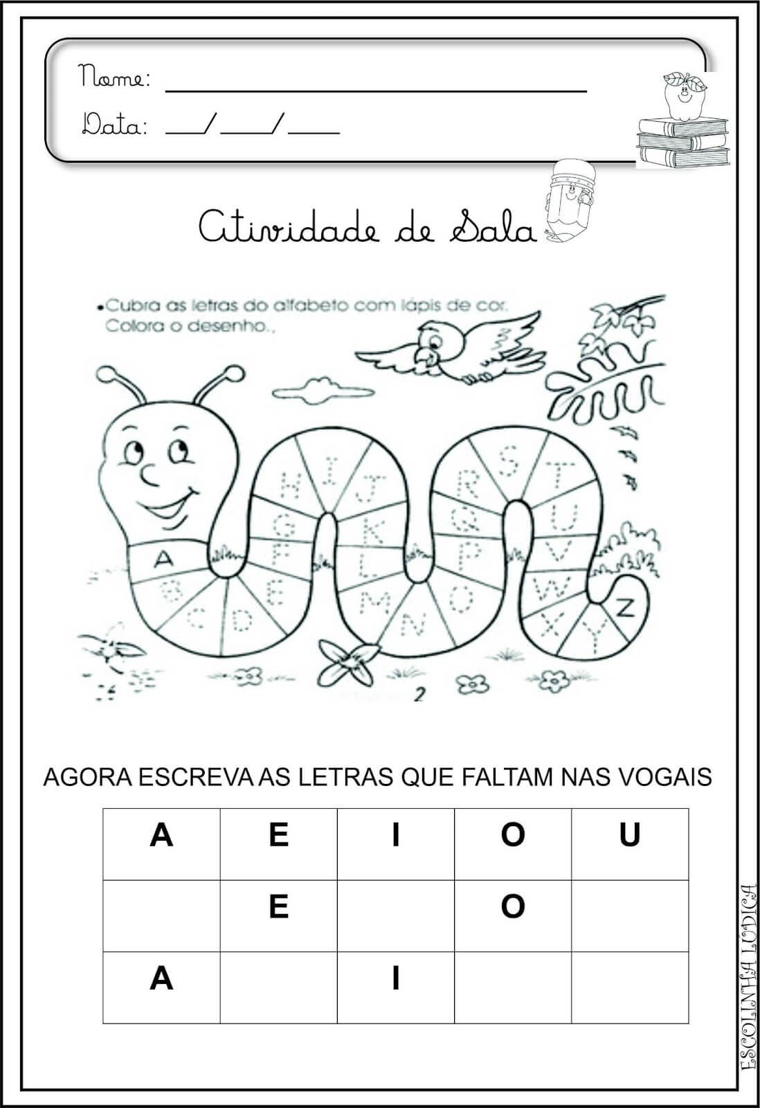 Super 20 Atividades de Alfabetização para Educação Infantil Para  AU01