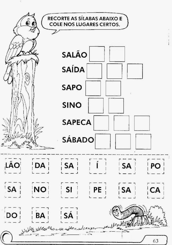 Excepcional 20 Atividades de Alfabetização para Educação Infantil Para  KS58