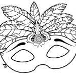 Mascaras de Carnaval Para Imprimir e Colorir – Vários Modelos