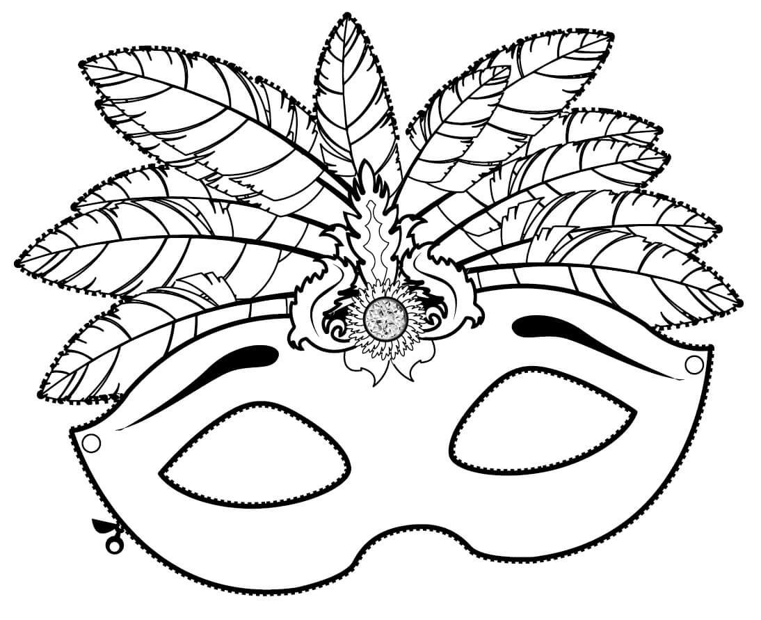 Mascaras De Carnaval Para Imprimir E Colorir Varios Modelos